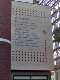 wall poem Leiden